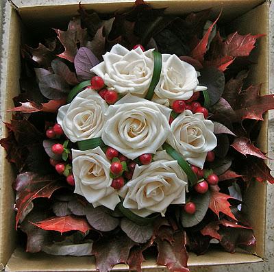 Cotinus, hypericum, and roses.