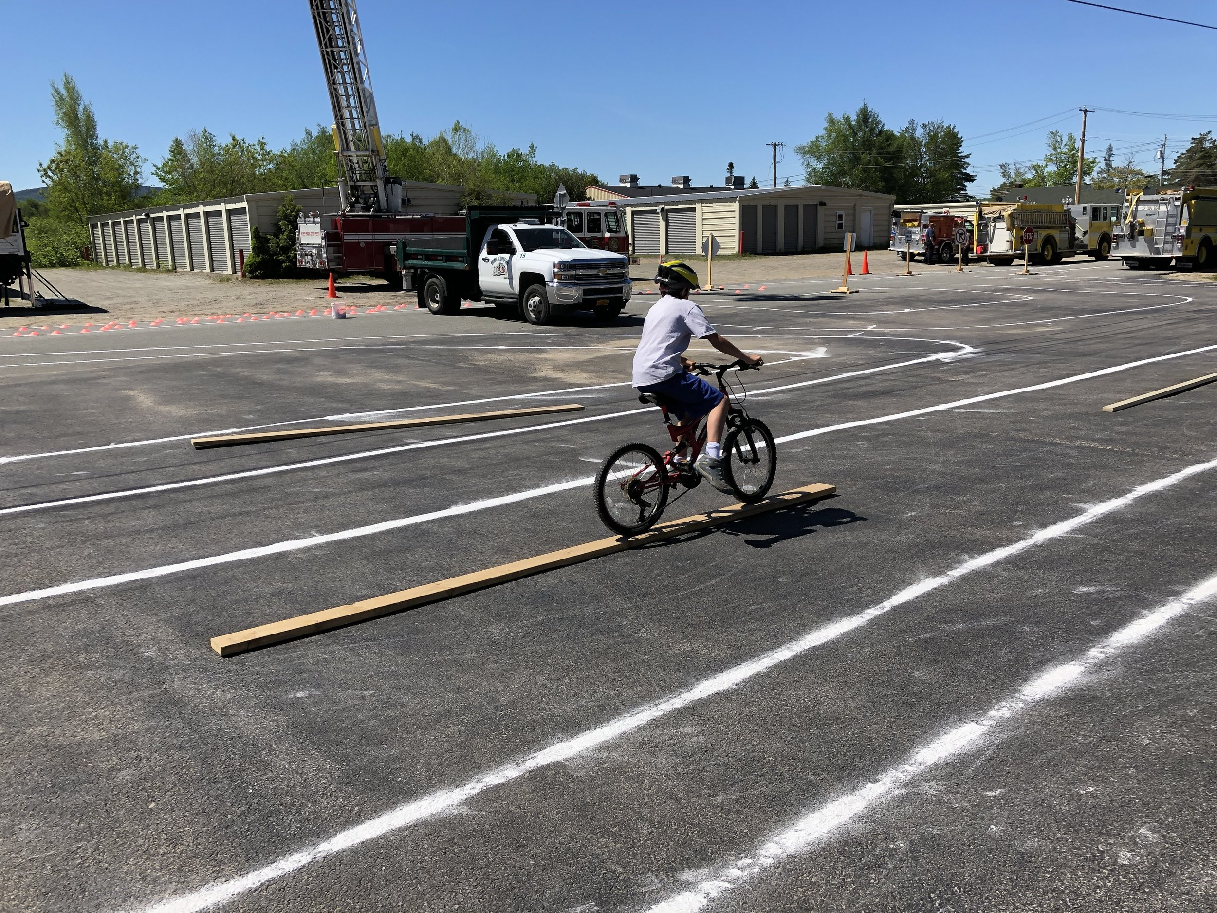 Navigating a ride across a two by six board was one of the balance skills at the event.