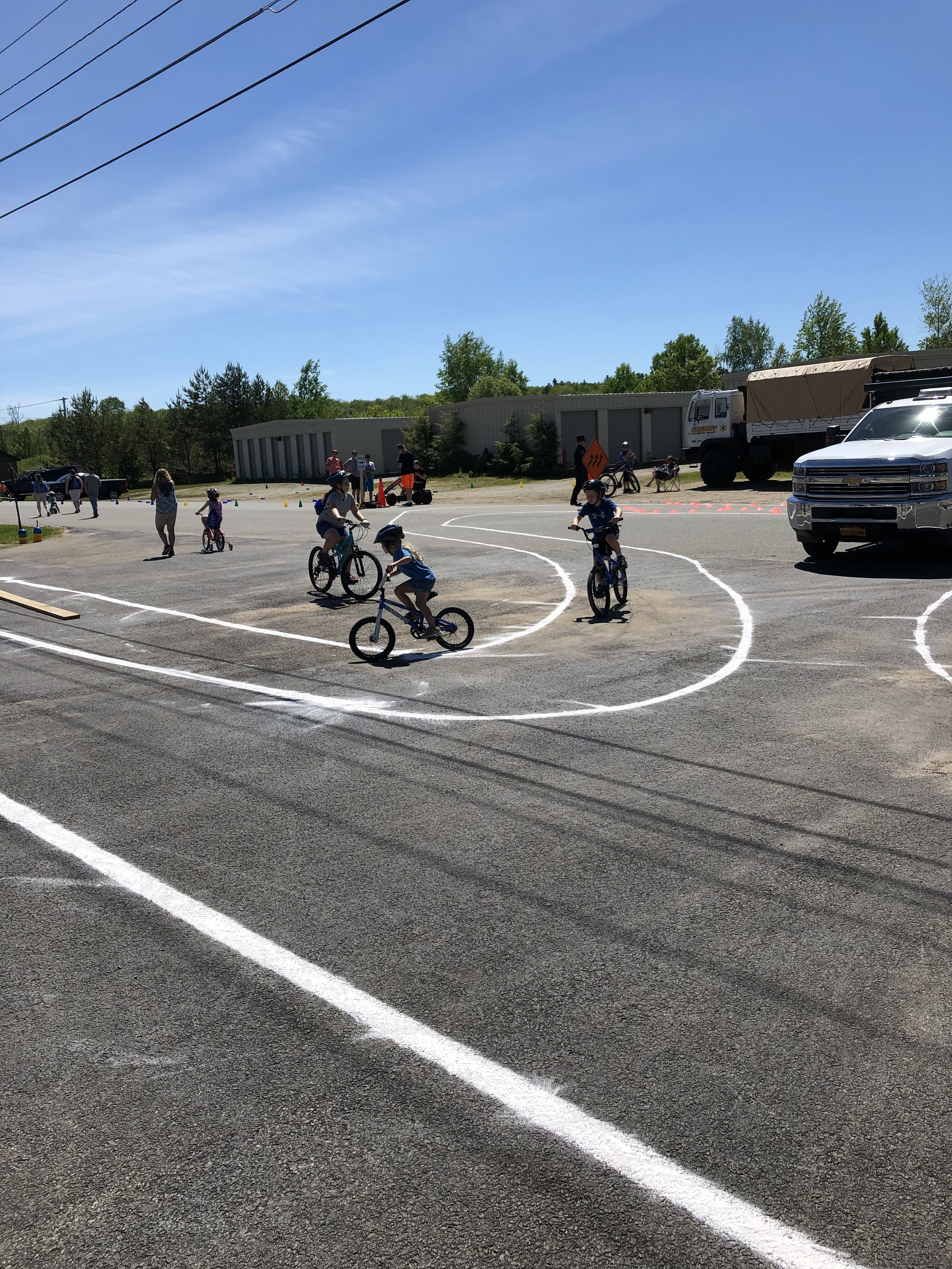 These were some of the more than 400 youngsters who brought their bikes to the police department's Bike Rodeo and Celebration of Youth to show off their bike skills in various ways, learn important road skills, win prizes and fill their bellies with all sorts of tasty things provided by the organizing committee and a half dozen or so local businesses.
