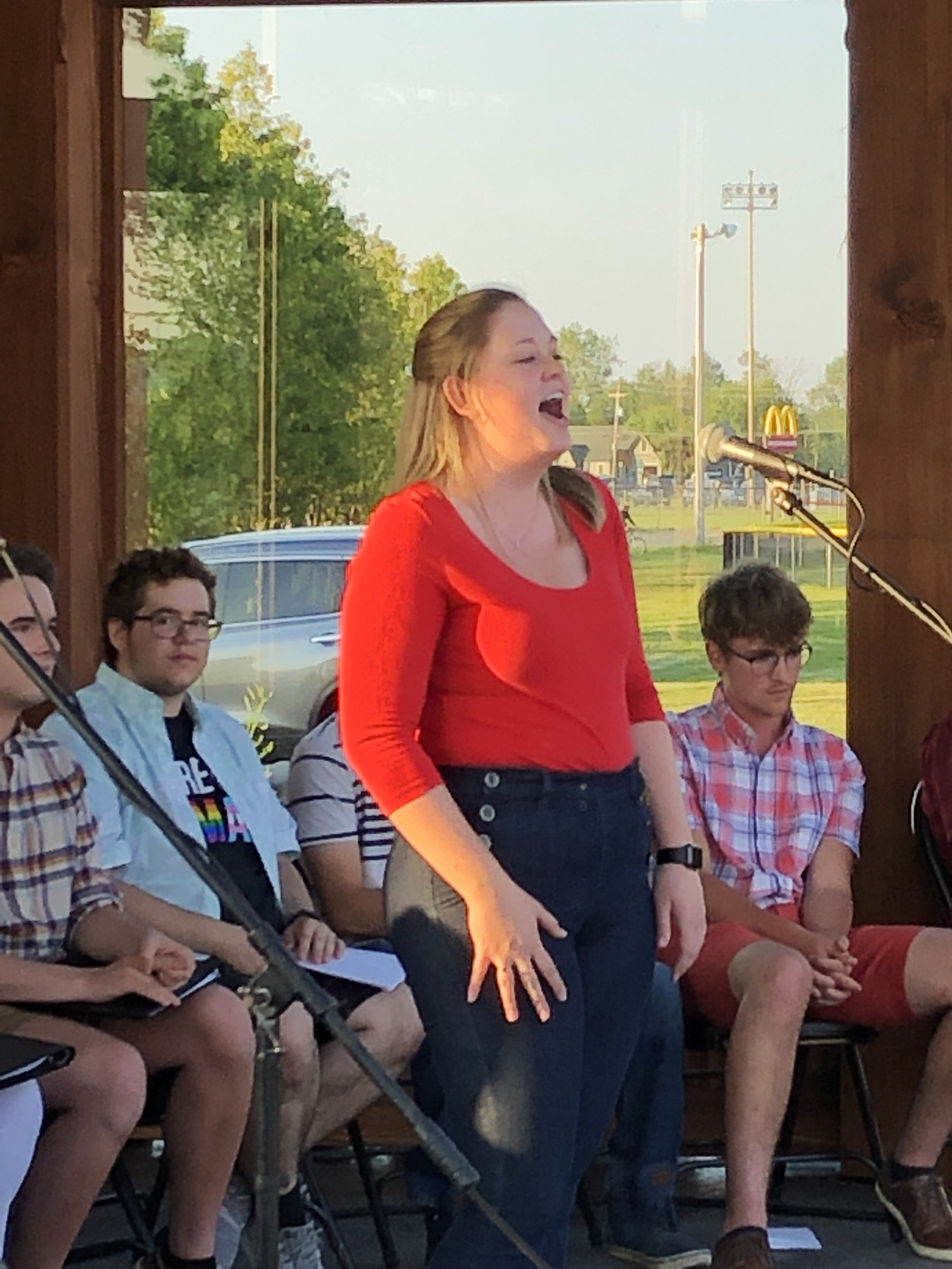 Danielle LaMere sings a solo