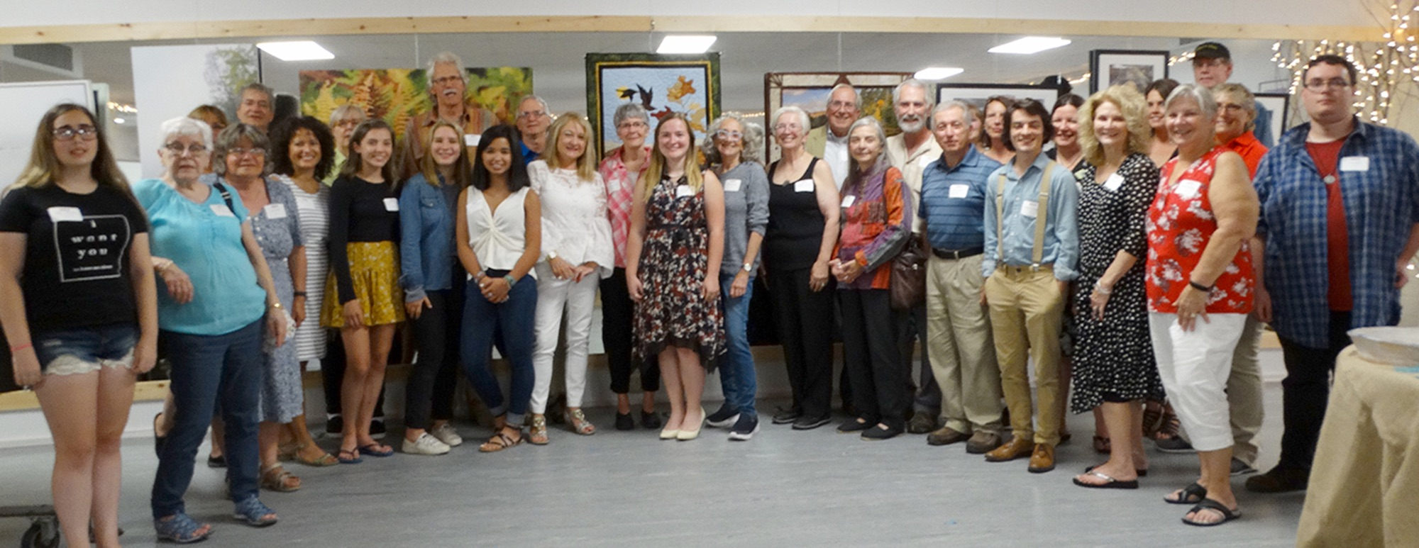"Over three dozen local and area artists' officially opened the Tupper Lake Arts Show with a reception and ""meet the artists"" event last Wednesday. The show, which features some very exquisite and detailed artistic pieces, runs through September 7 so there's plenty of time to take in all the talent between now and then at the Tupper Arts headquarters at 106 Park Street. Jim Lanthier provided the Free Press this week with this great group shot of most of the artists, photographers and sculptors participating."