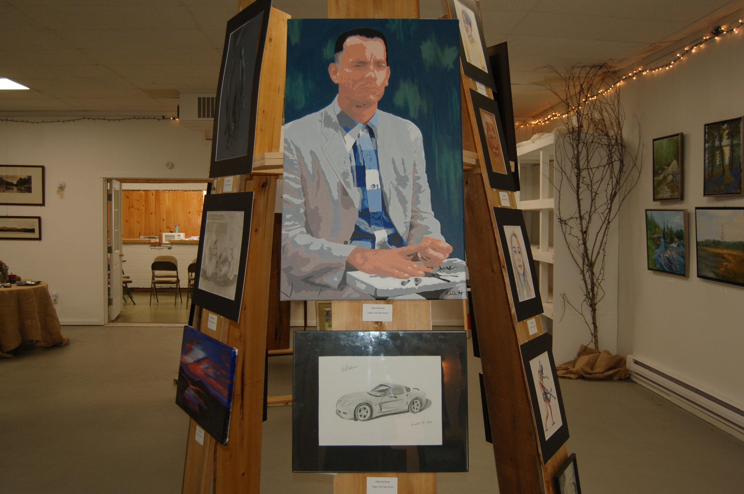 Two of Tupper Lake High School student Kate Harriman's artworks (Ian Roantree Photos).