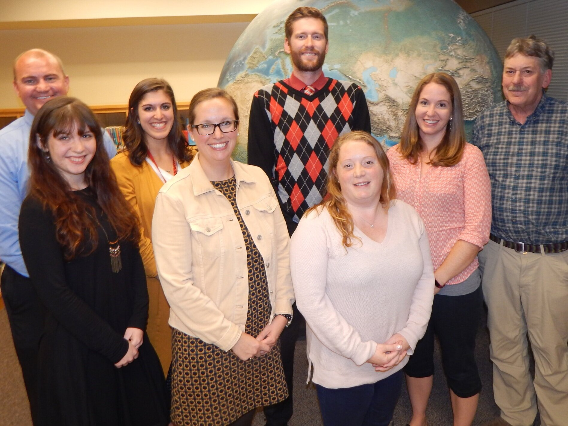 New faculty members welcomed to the Tupper Lake School District, from left: Andrew Heslink, Corinne Mather, Lindsey Maroun, Elizabeth Littlefield, Jacob Klossner, Whitney Bennett Britt, Amy Wilson and Mark Lienau. Not pictured are Heather Andresen and Melissa DeVirgeles (new school nurse). (Rich Rosentreter photos)