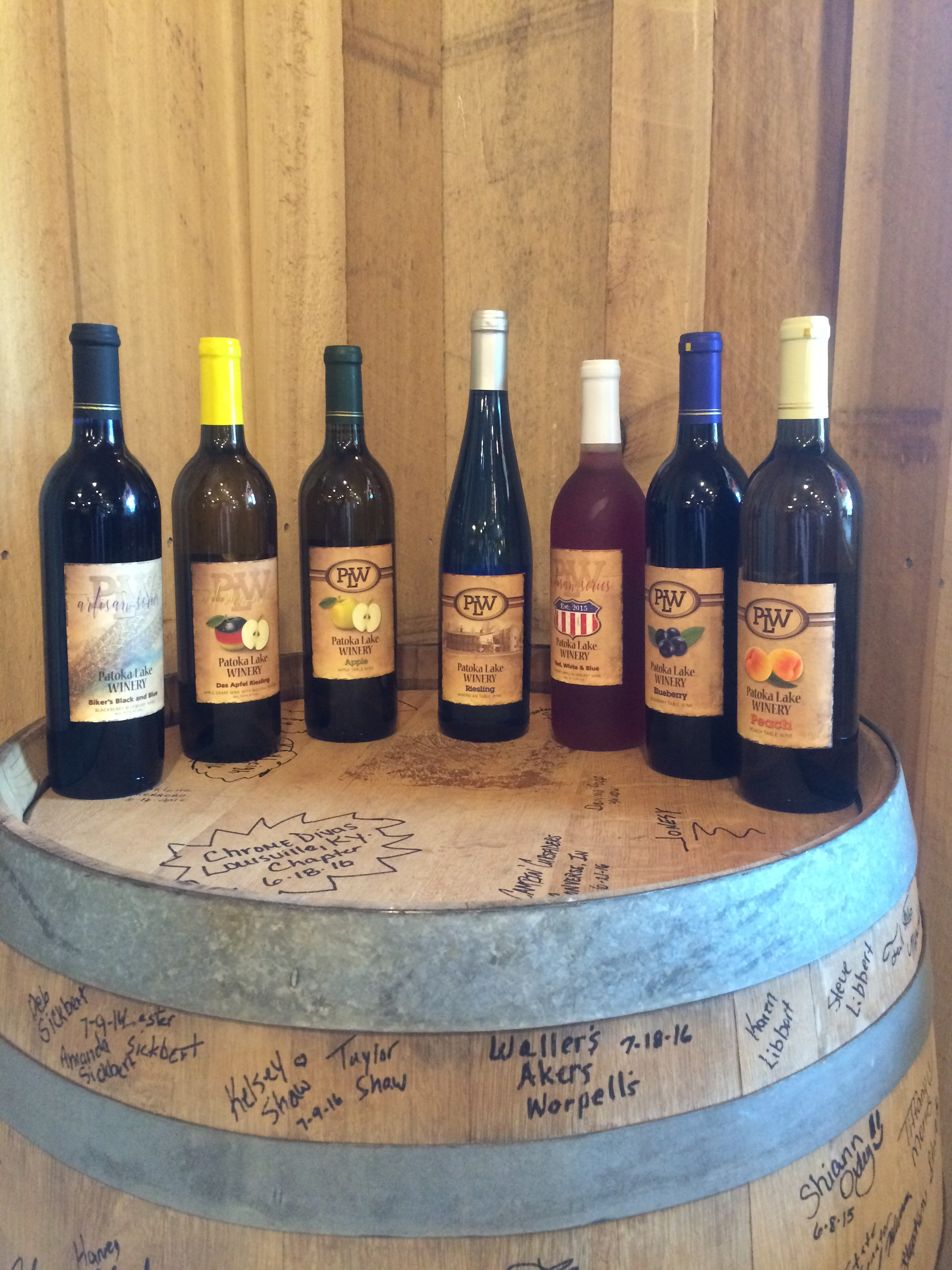 A sampling of our wines