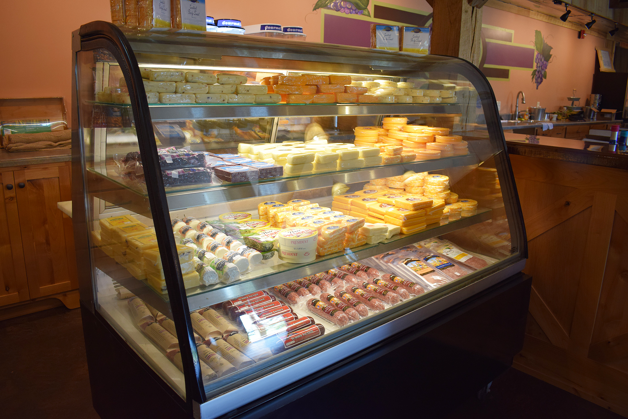 Select cheeses and meats to enjoy with wine