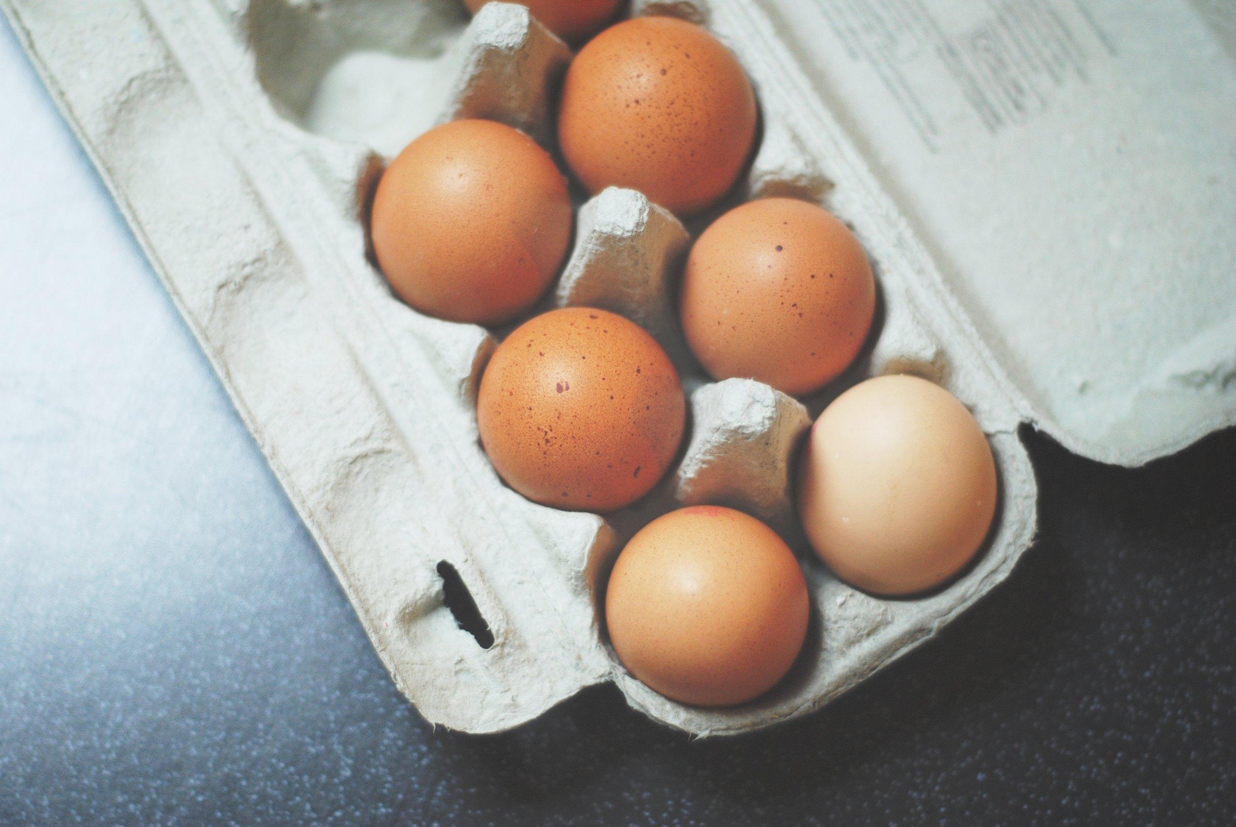 1 dozen free range eggs- $4.75
