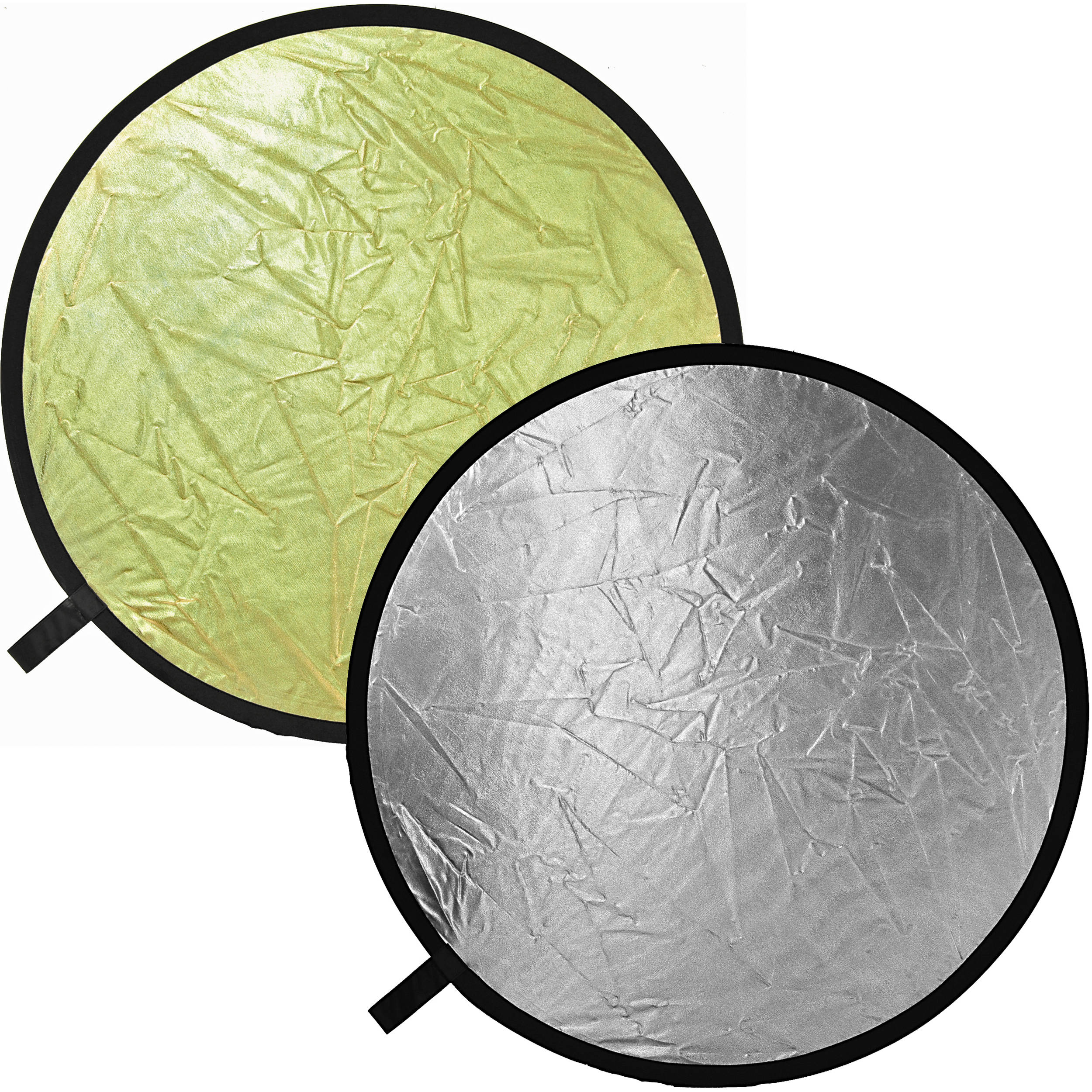 silver and gold reflectors