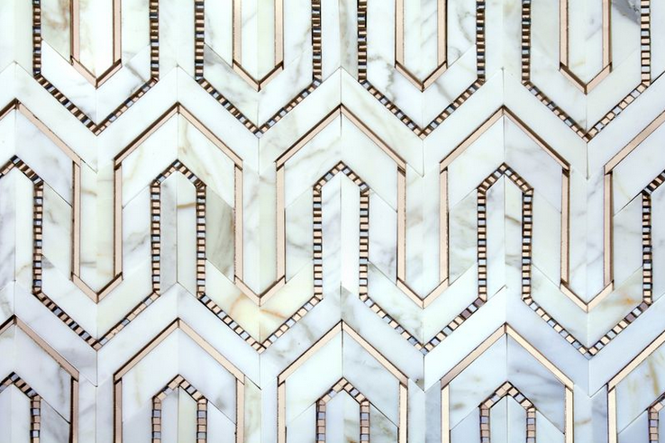 Art Deco inspired tiles from  AKDO's  Allure line via  Lonny .
