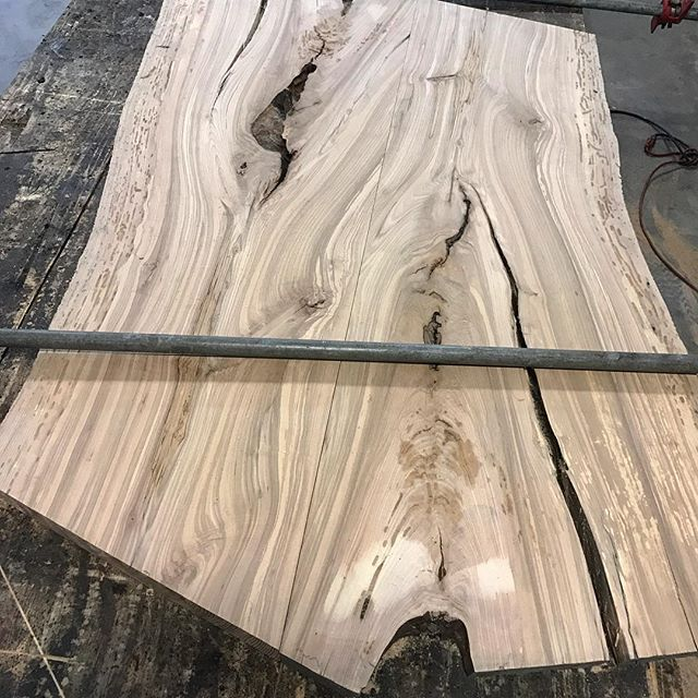 The beginnings of an amazing piece that we will be donating in the near future.  #nofilter #designbuild #custom #create #design #coffeetable #woodworking #woodwork #ash #slab #oneoff #oneofone #thankful #blessed