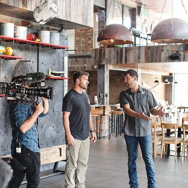 MARK YOUR CALENDERS! November 13th @ 8pm Central we will be featured on the awesome show @barnwood_builders on the DIY Network.  Our portion of the episode will highlight the work we did inside @steamerseafoodbg To celebrate, we will have a viewing party that night for all who would like to join at Steamer.  First come, first serve!  Like & Share this with your friends. #rusticnail #designbuild #design #create #custom #metalwork #ironwork #woodwork #woodworking #copper #thebigfish #oneoff #oneofone #teamwork #blessed #thankful