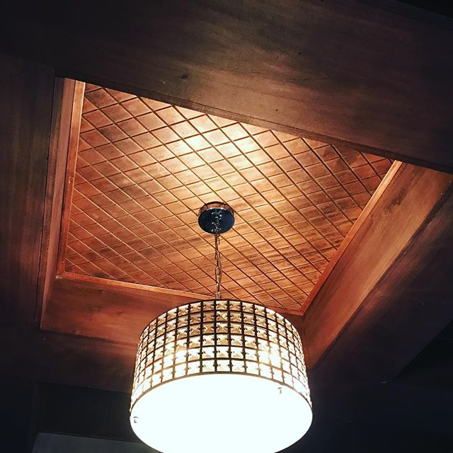 We added the RN&Co touch to a chauffeured ceiling today. These copper pieces were bead rolled by hand, aged chemically and finished with a dull wax.  It's such a privilege to work with such great clients who trust our design/build abilities. #detail #metalwork #beadrolled #mitlerbros #designbuild #metalwork #rusticnail #design #finishingtouch #copper #thankful #blessed