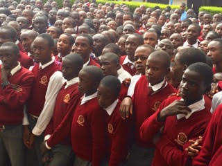 Boys from the JPaul Boit Boys High School in Eldoret Kenya
