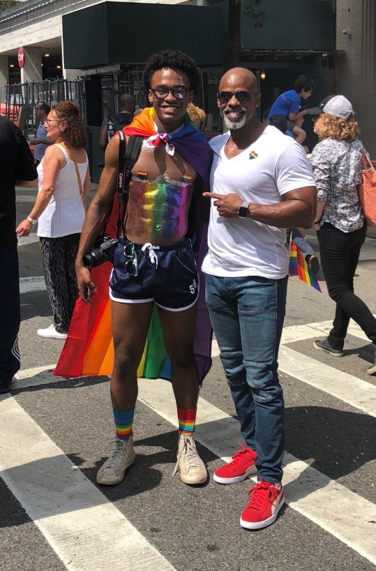 Jalen and Ted at 2018 Pride Parade