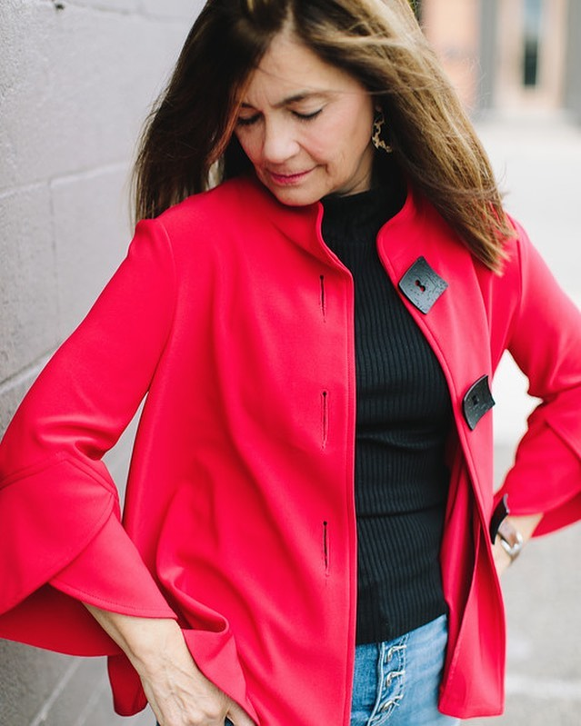 Today we bring to you a perfect layering piece in the perfect shade of red.