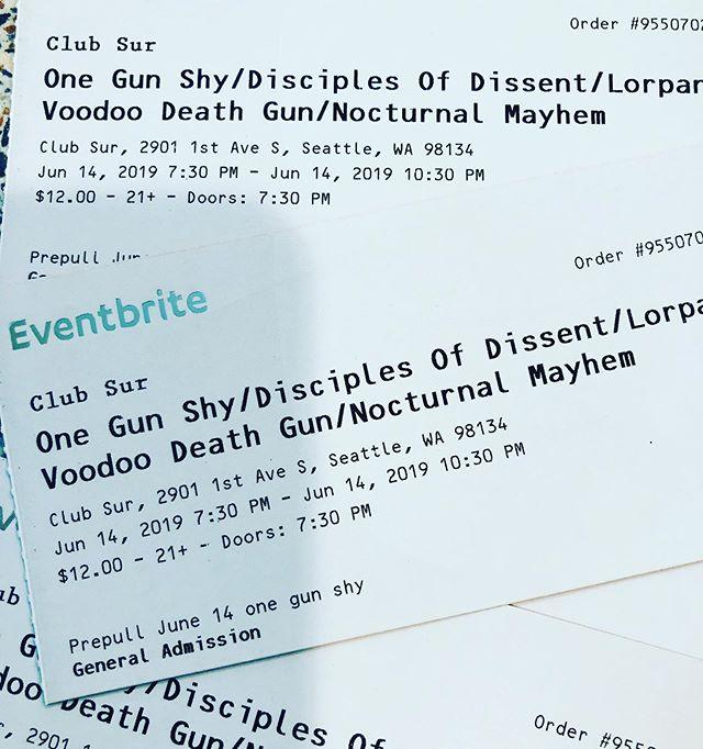 Tickets Are Moving! Get Your 2 for 1 Tickets at www.onegunshy.com  For a limited time only! @onegunshy @chris.womble @qdraw1 @lkharwood @eligootgeld @drmmrswife @sarahgootgeld . . . . . . . #hardrockmusic  #hardrock #rock #rocknroll #rockandroll #rockstar #rockstars #alternativemetal #altrock #seattle #rocklife  #wombat  #music #seattleband #drummer #drums #hitsomething #vocals #guitars #bass