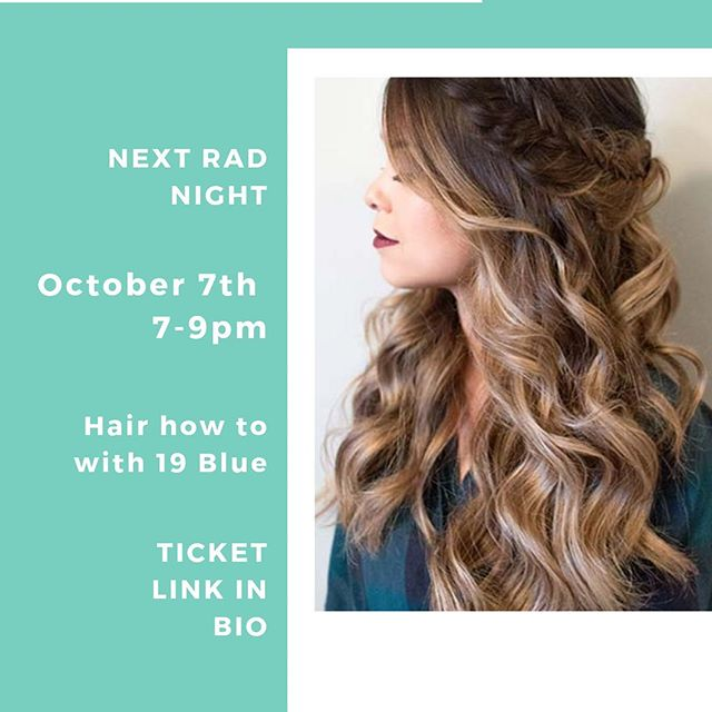 7 tickets left!! Learn all about hair with @19bluesalon @bellarenga - you will be leaving with some hair accessories too! - Only $15 - see you Monday!!!