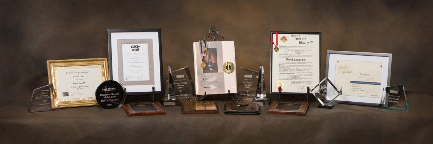 A few of Brian's most prestigious awards for photography, service and advocacy.