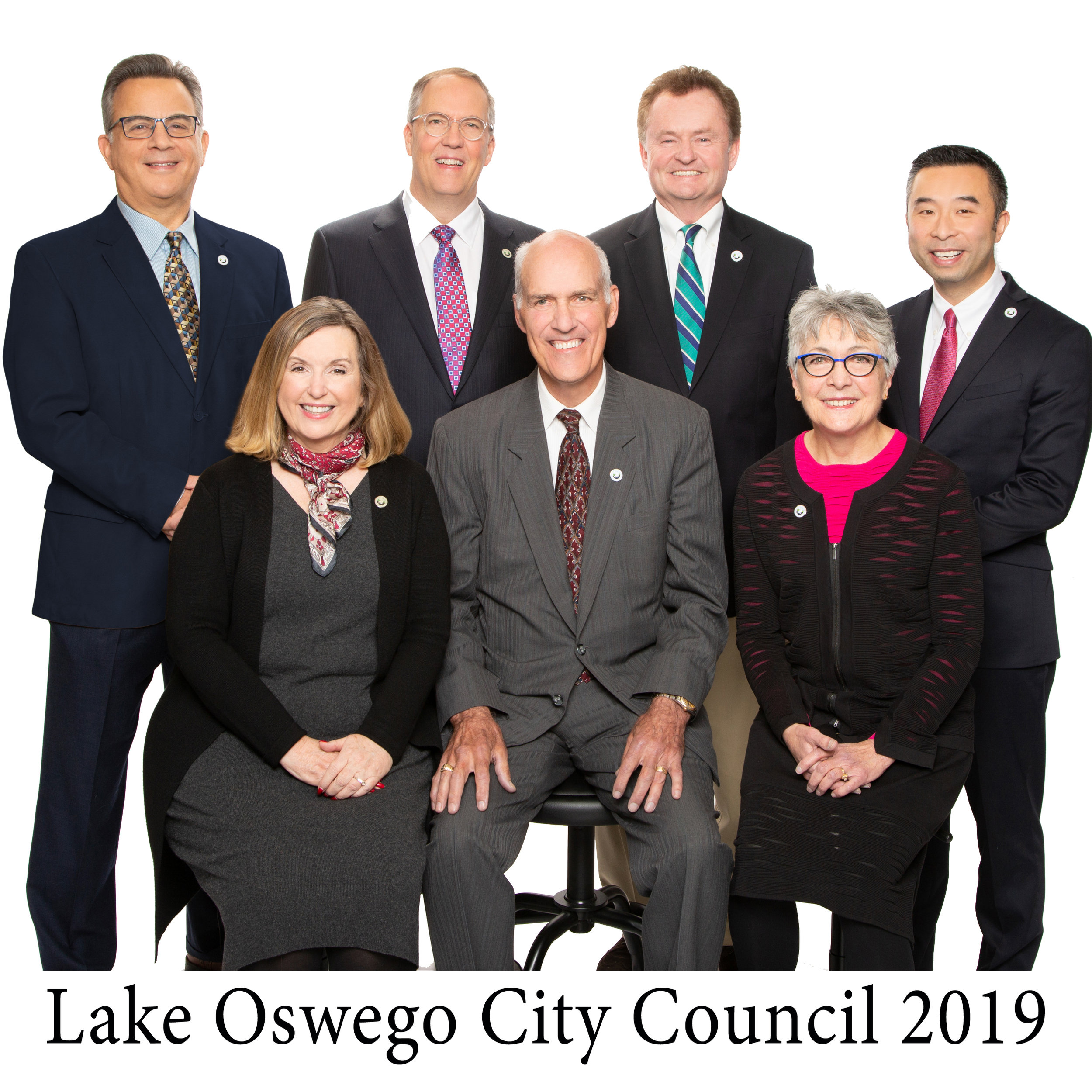 Featuring  Lake Oswego's City Council 2019-20 .