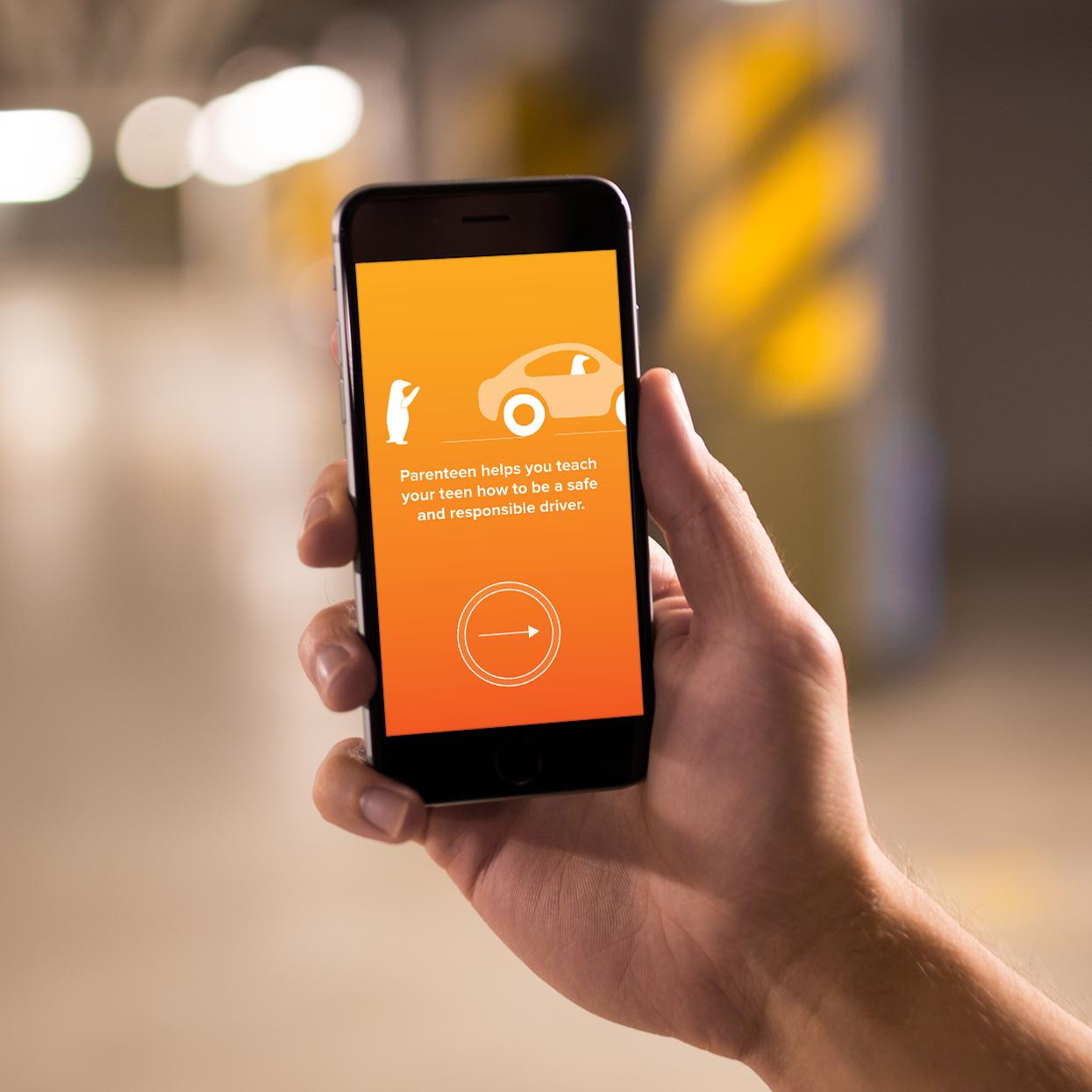 Parenteen, a safe driving app
