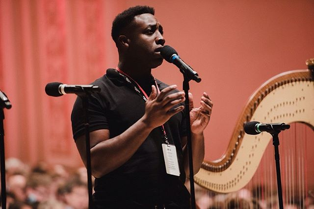 Still can't get over the incredible experience performing as the first Nigerian American soloist at Carnegie Hall! Sang with an 100 piece orchestra, was crazy. Shoutout to @dciny for having me. 🦅 📷: @dwphotony