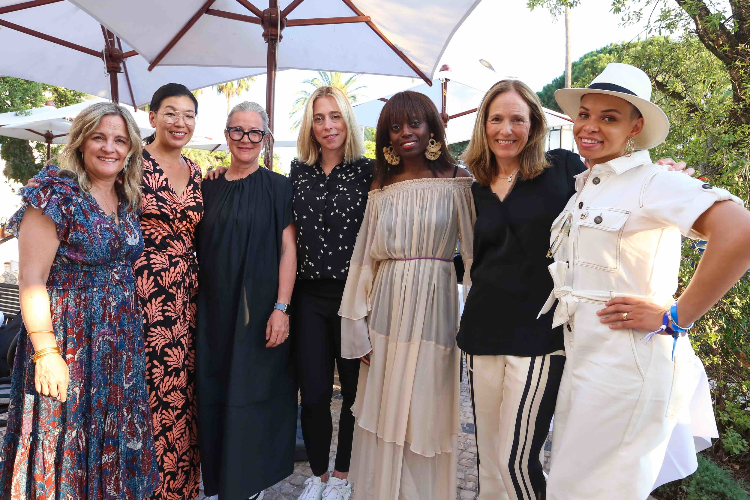 Dylan McGee (Makers), Ai-jen Poo (Domestic Workers Alliance), Colleen deCourcy (Wieden+Kennedy), Catherine St Laurent (Pivotal Ventures), Dee Poku (Founder, WIE), Holly Gordon (Participant Productions), Blair Imani (Muslims For Progressive Values)