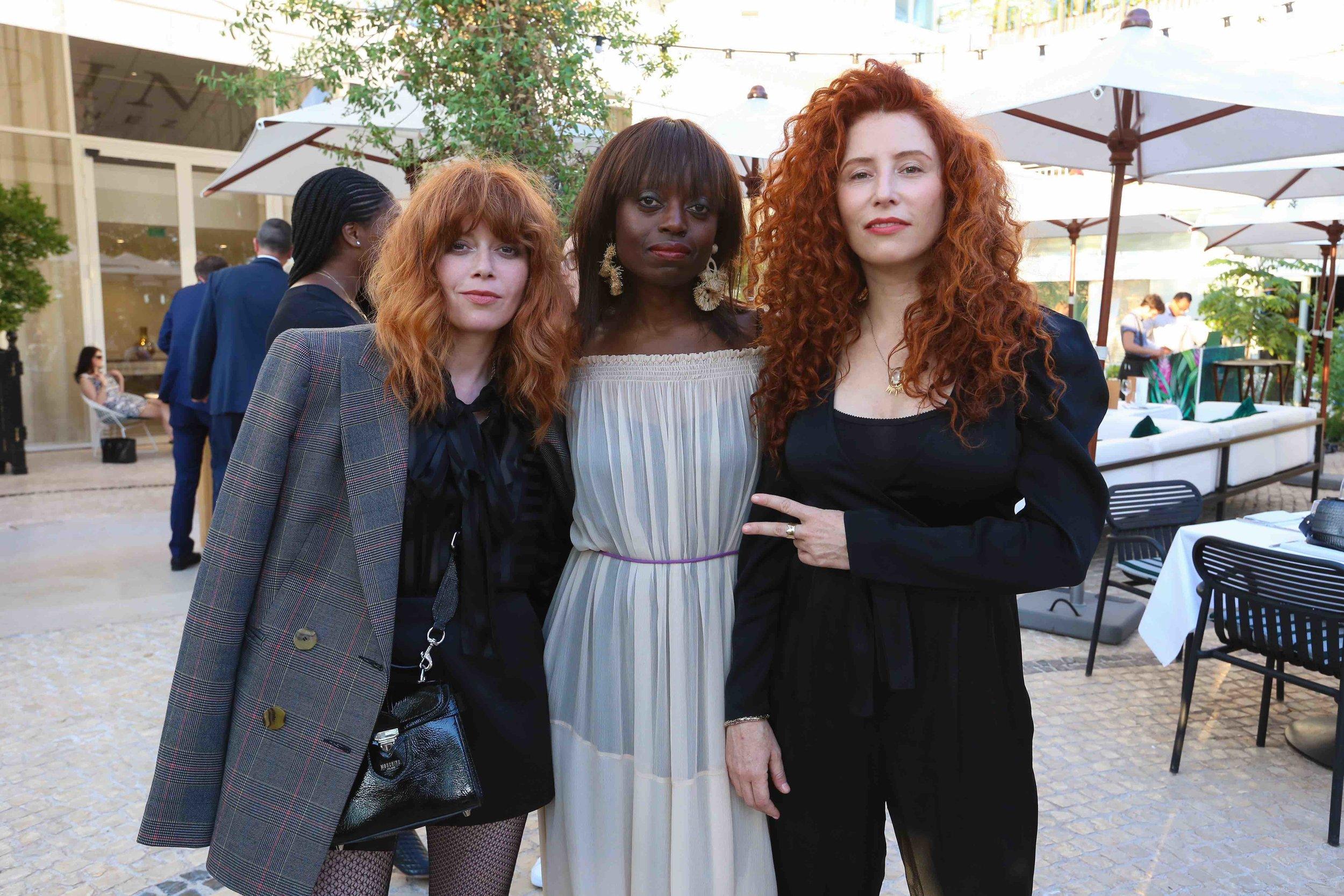 Natasha Lyonne (Actress & Producer), Dee Poku (Founder, WIE), Alma Har'el (Free The Work)