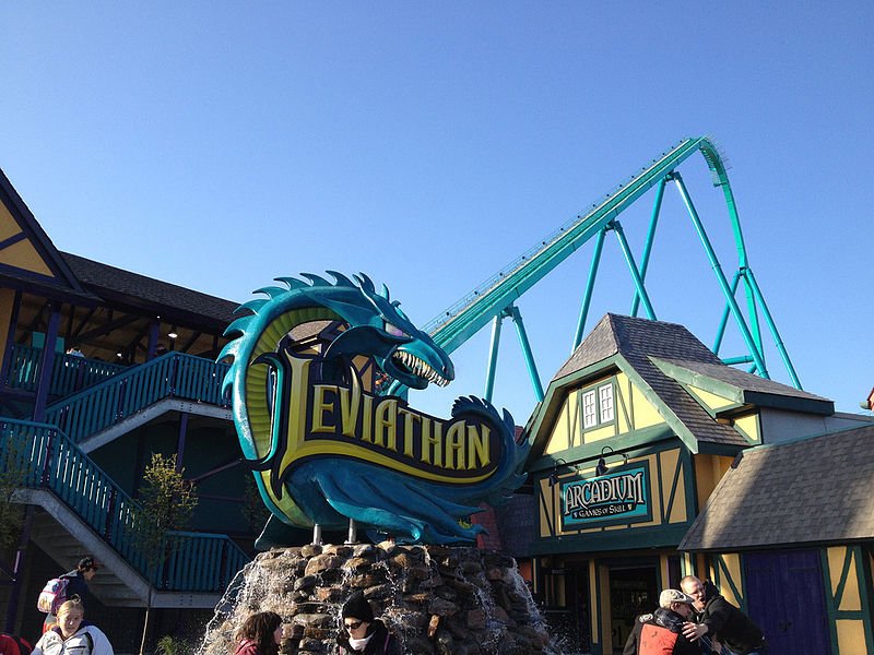 Leviathan Rollercaster in Canada's Wonderland, Vaughan, Canada