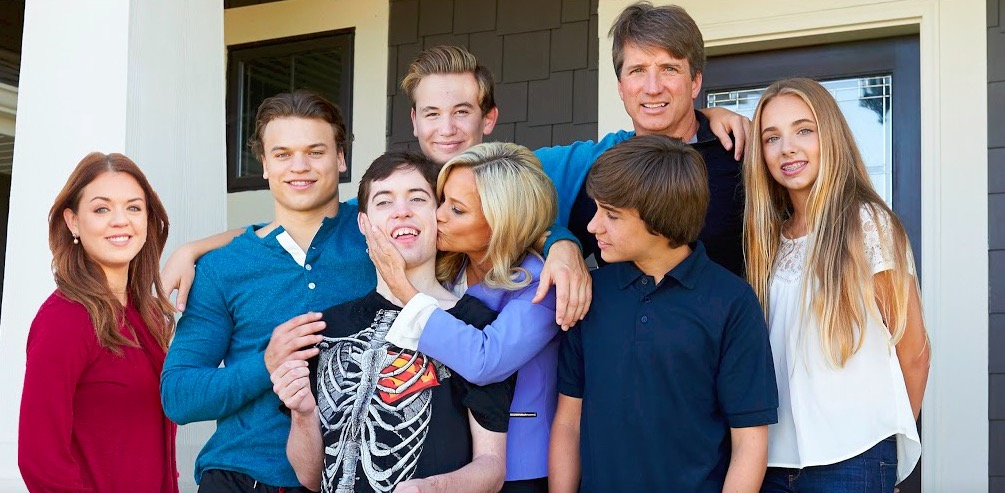 Family with child with autism spectrum disorder.