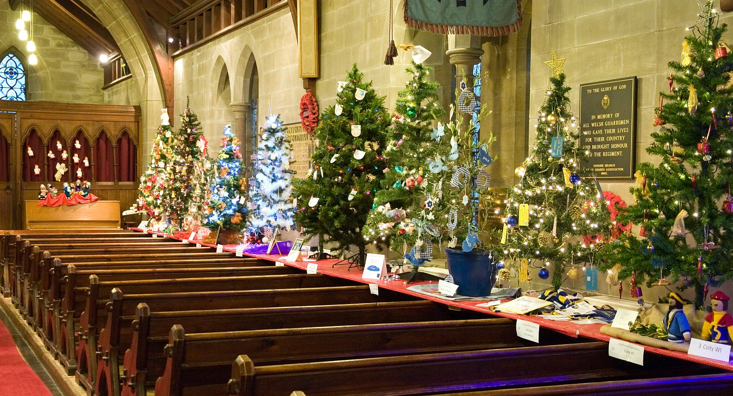 Christmas Trees in Church