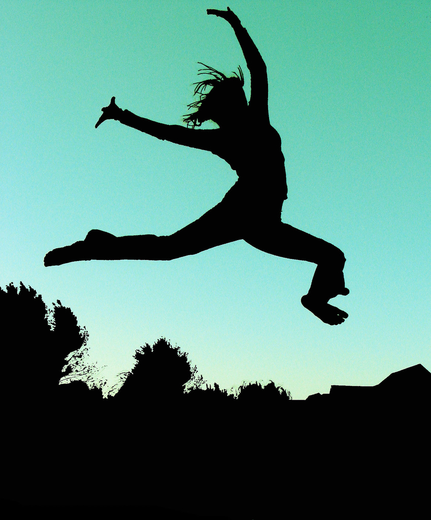 leaping for joy