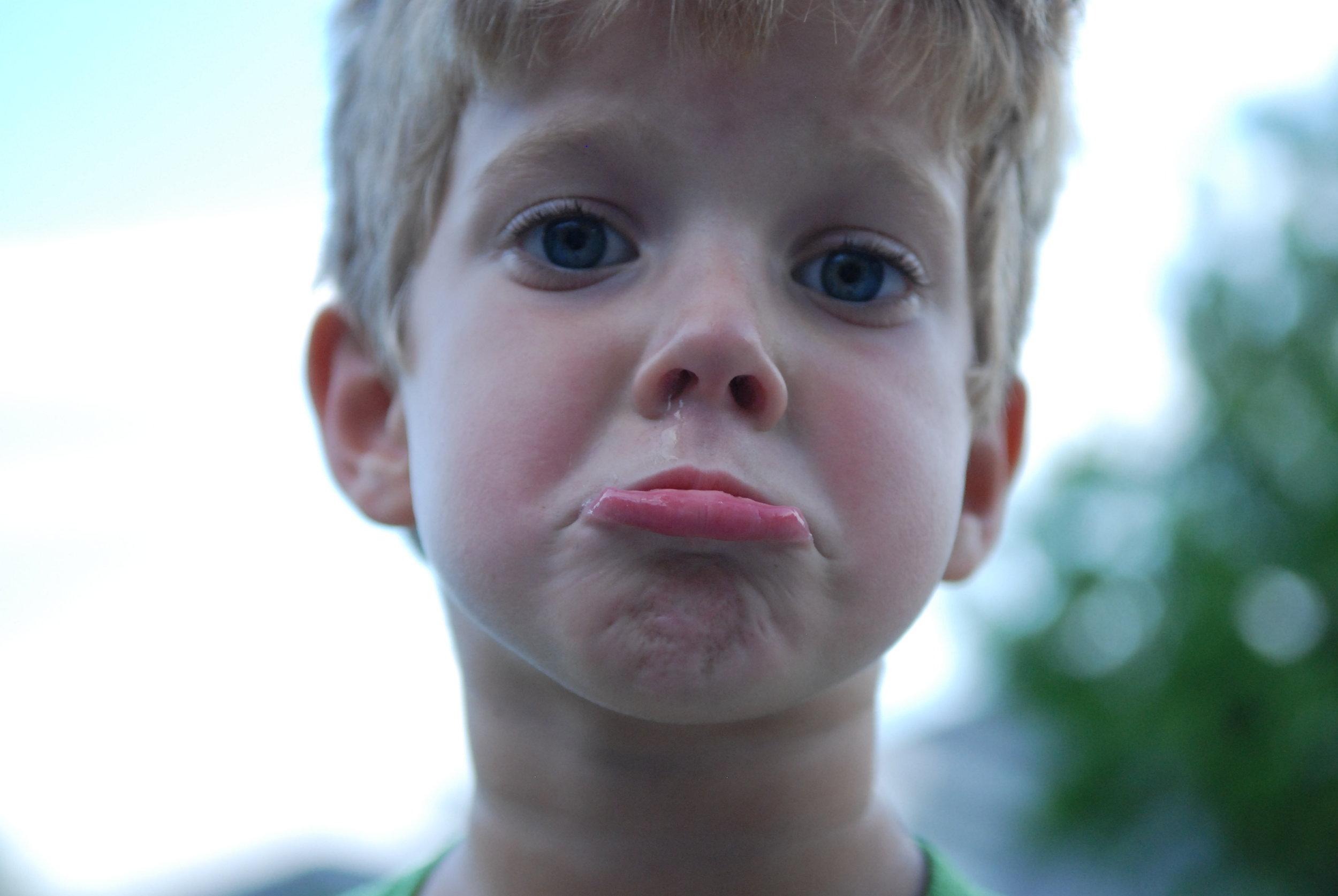 pouting child image
