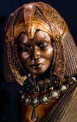 Queen of Sheba sculpture.