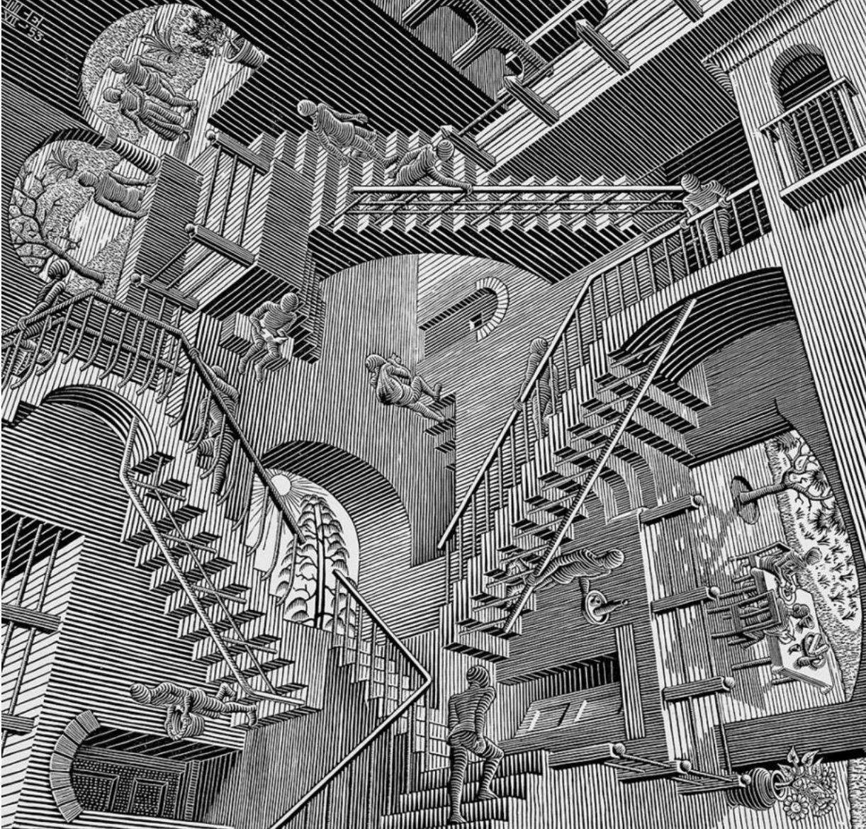 Relativity , by MC Escher.  © The MC Escher Company.