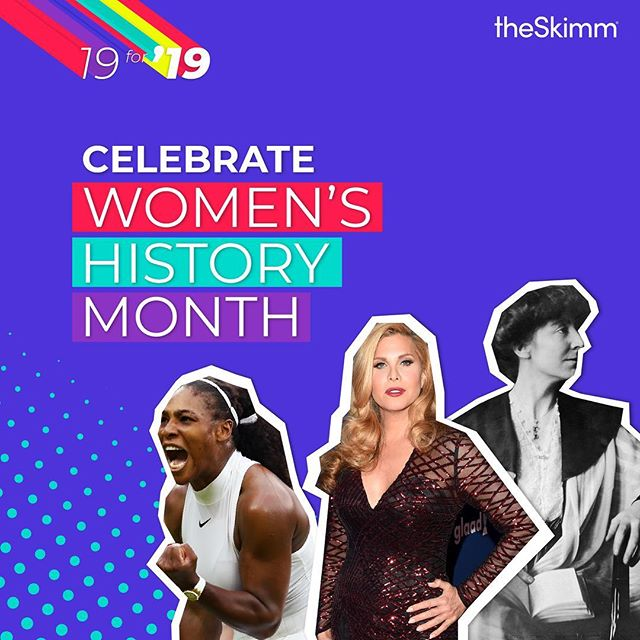 We're celebrating #WomensHistoryMonth here at @theskimm by highlighting 19 women who've paved the way in industries like entertainment, business, sports and politics. Head to @theskimm and theSkimm.com to see so much more 💙💪