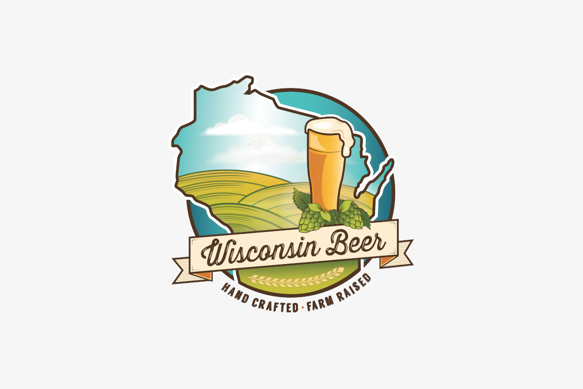 Holly Avenue Designs Madison Wisconsin Beer Logo Hand Crafted Farm Raised