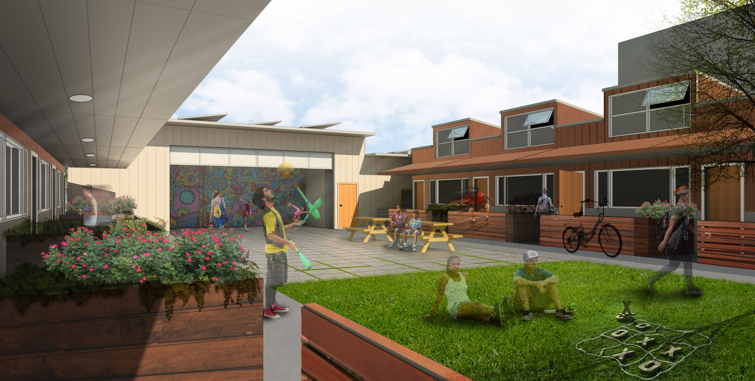 Mews Courtyard Perspective