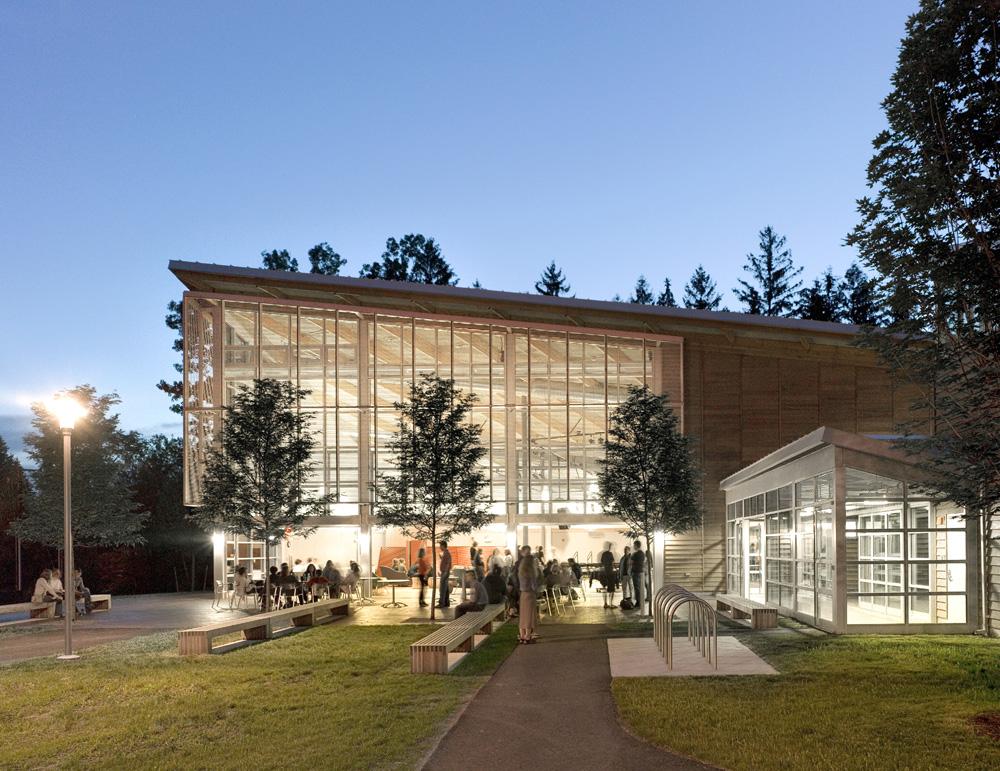 Student Center at Dusk  ©  Antonie Grassel / Esto
