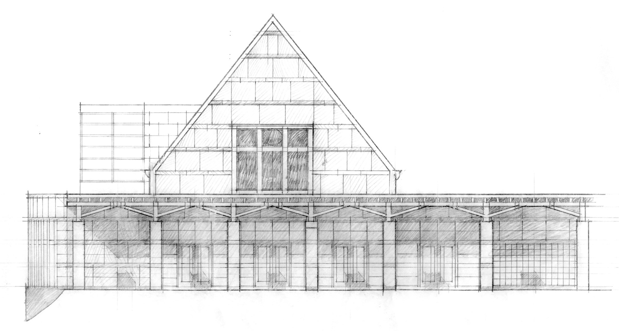 Courtyard Elevation Sketch