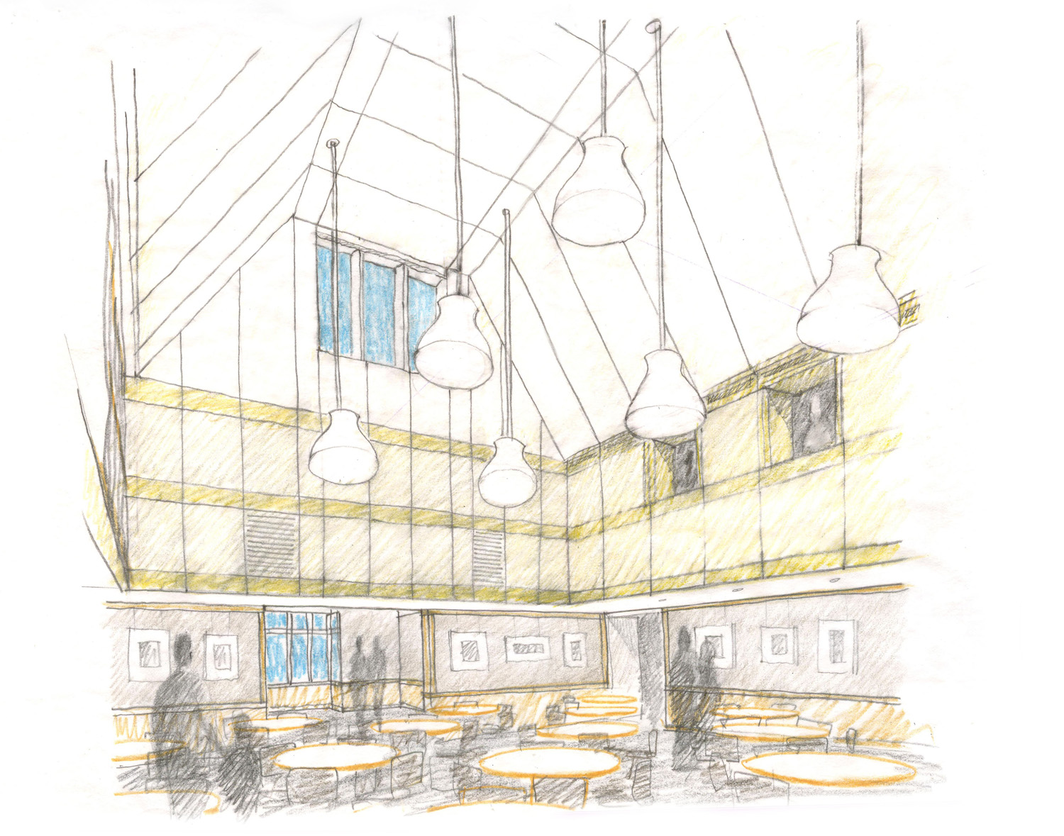 Parish Hall Interior Sketch