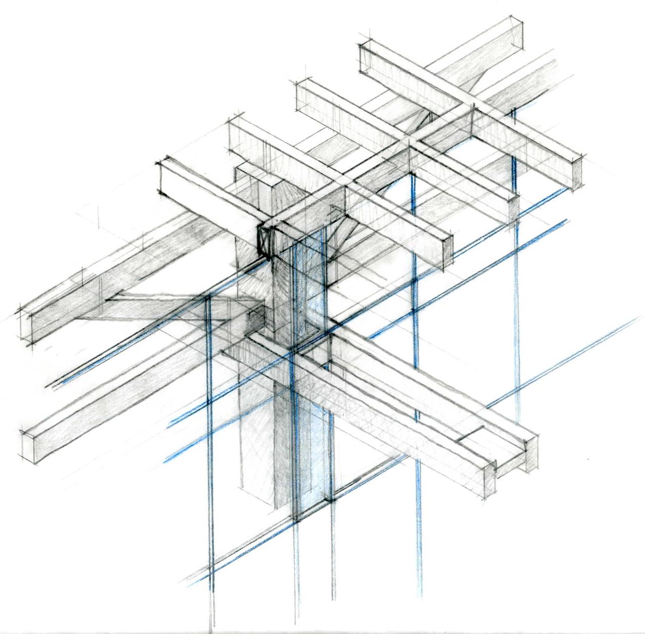 Colonnade Study Sketch