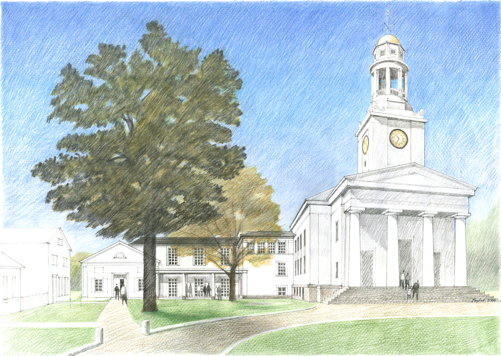 Exterior Rendering from Lexington Road