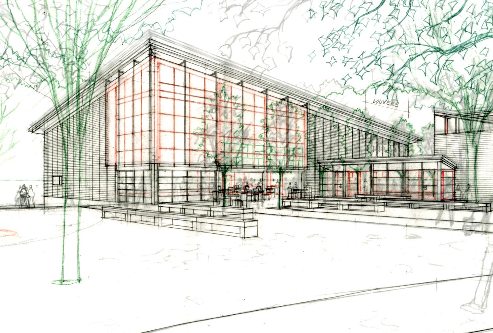 Perspective Sketch of Student Center