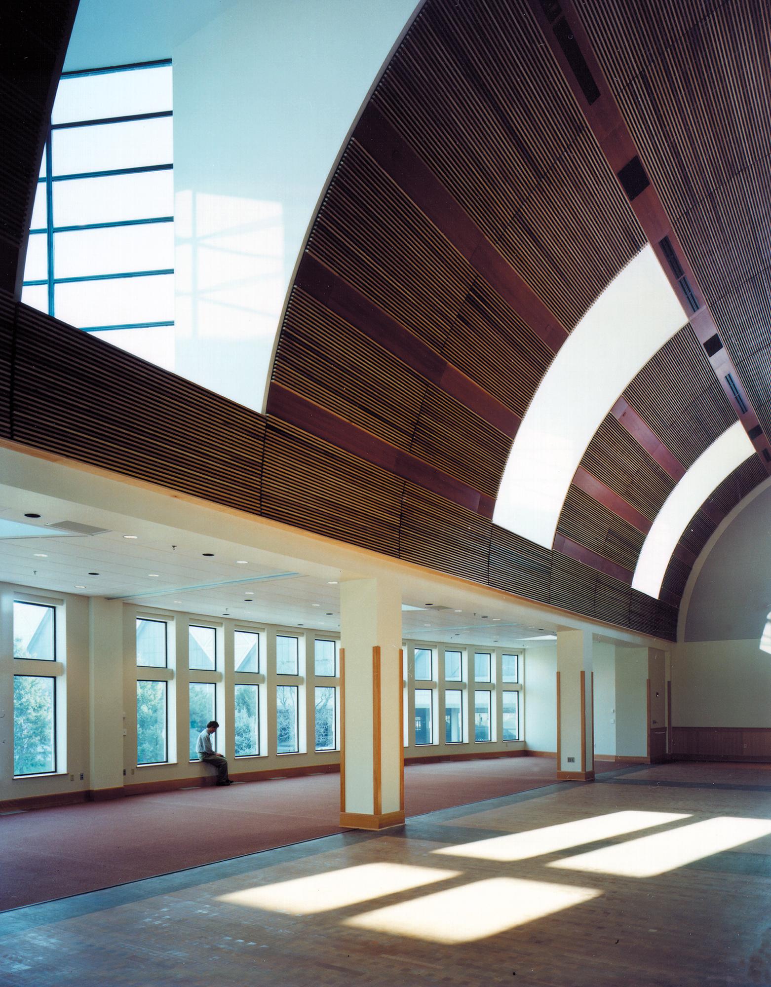 Founder's Hall Interior Showcasing Skylights
