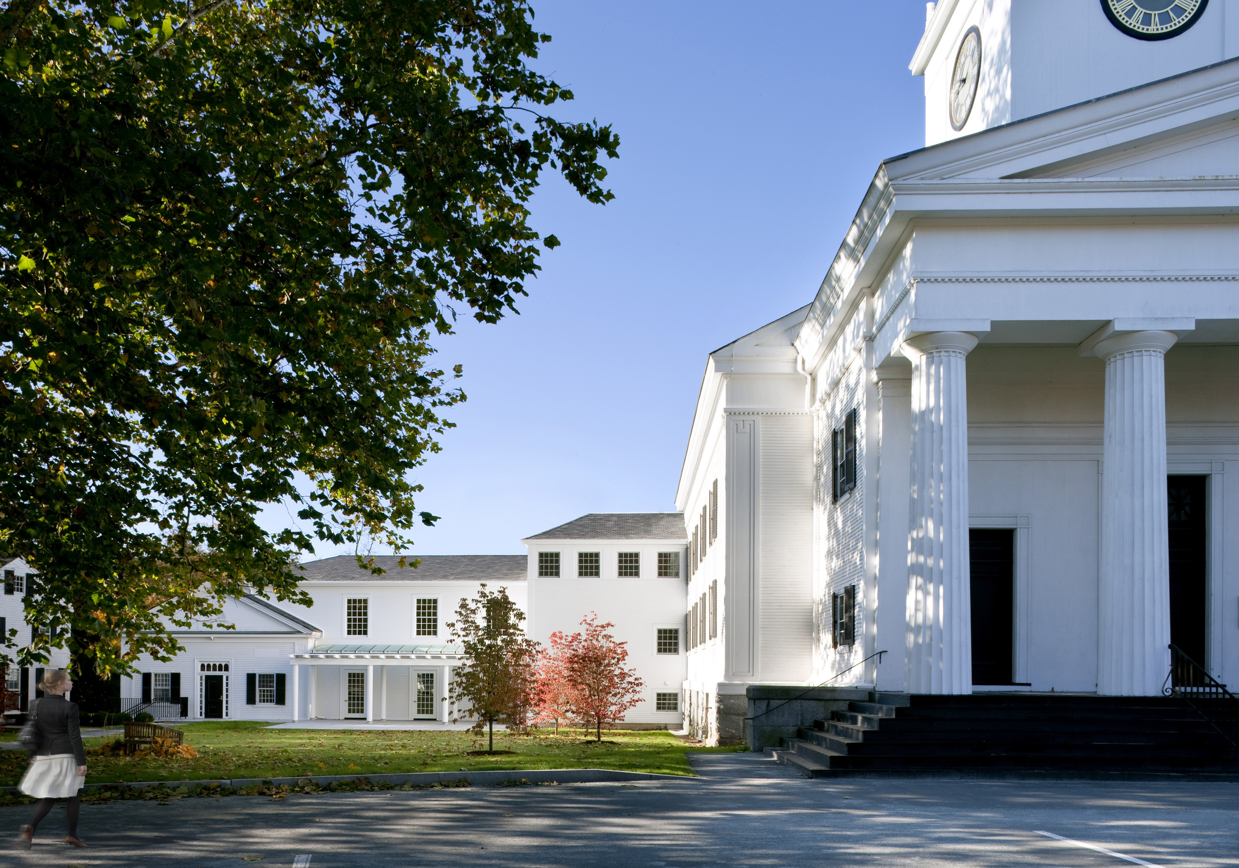 First Parish Concord Expansion Main Entrance  ©   Greg Premru Photography