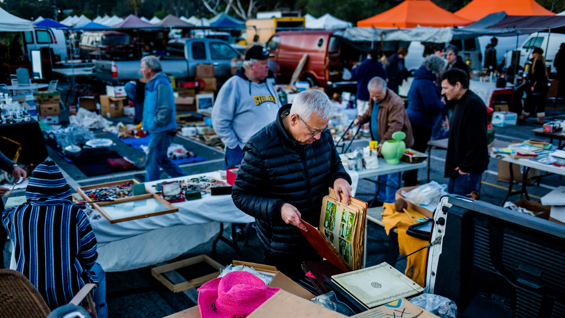 Jim at the Pasadena Rose Bowl Swap Meet, 2016