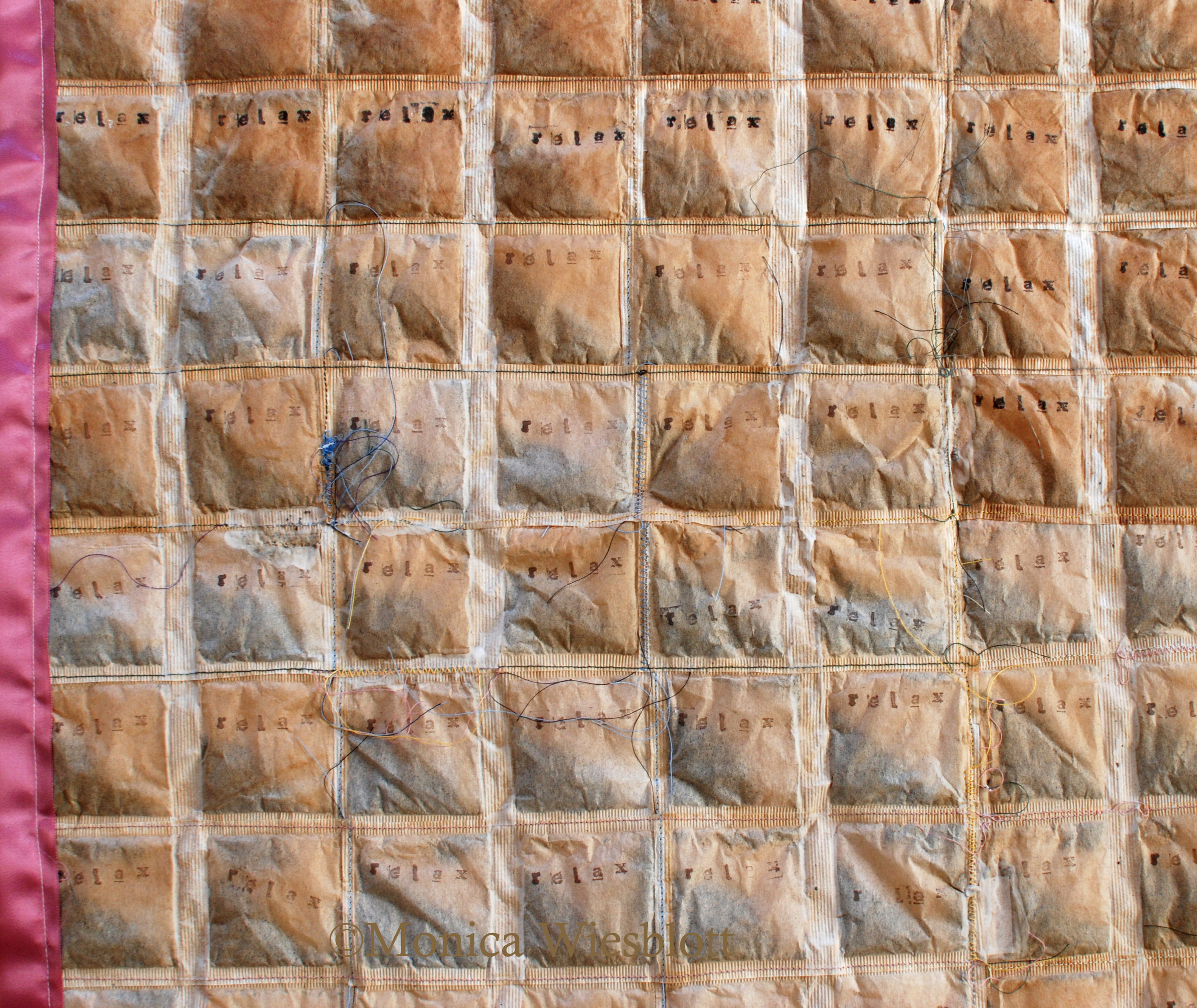"Detail image of ""tear stained quilt"""
