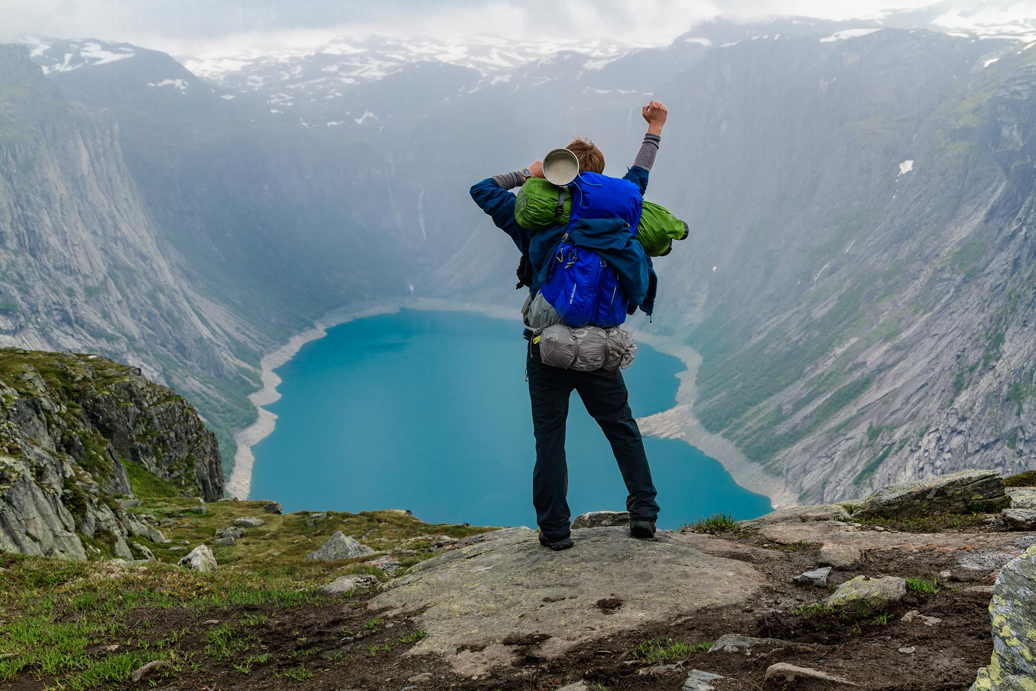 Pure joy. I was fighting for my dream to visit Trolltunga. And I did it!