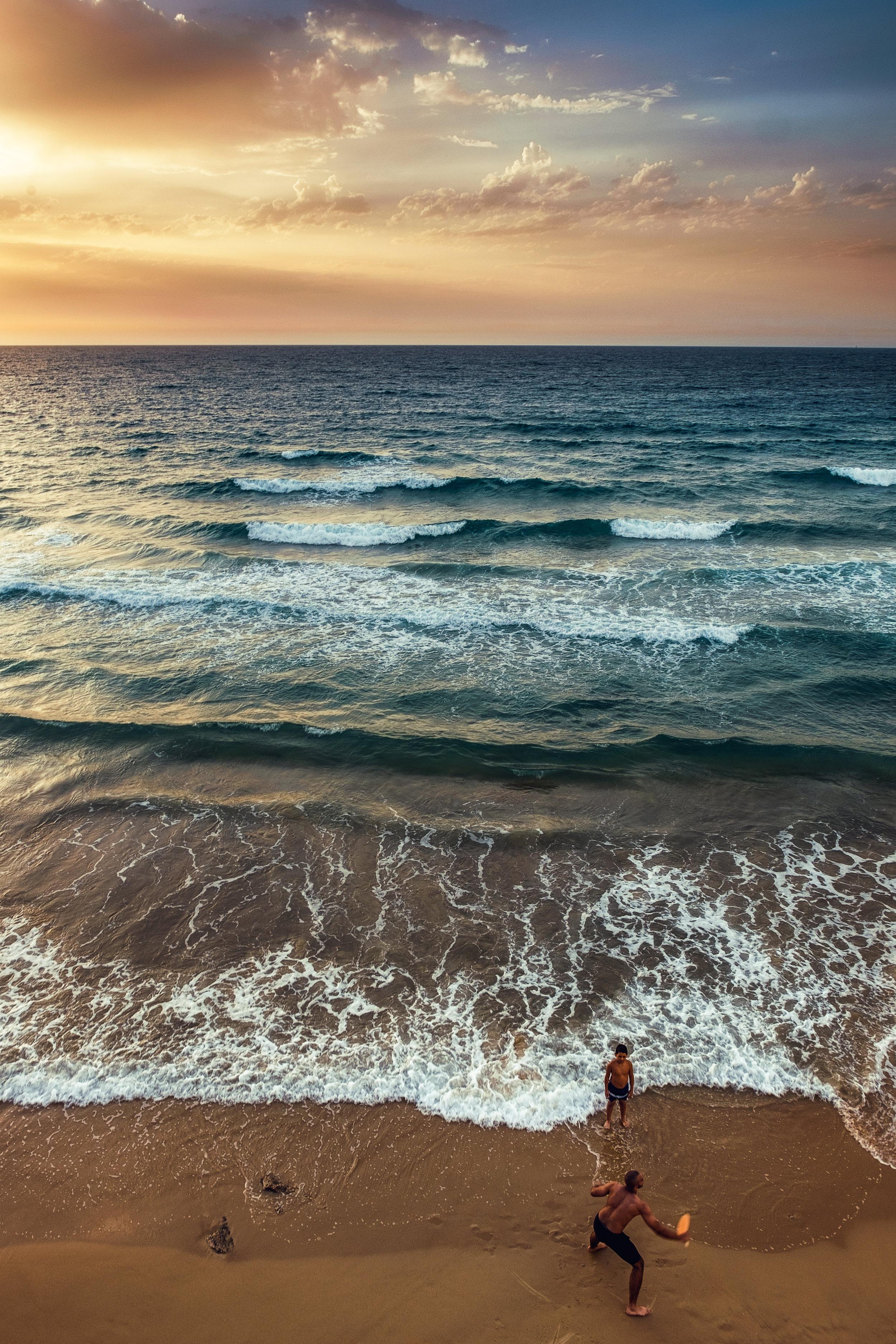 Matkot players |Jaffa Beach | Tel Aviv| Israel