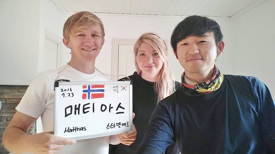 My name in Korean. Hosting a Norwegian and and Estonian at my home in Stavanger | Norway