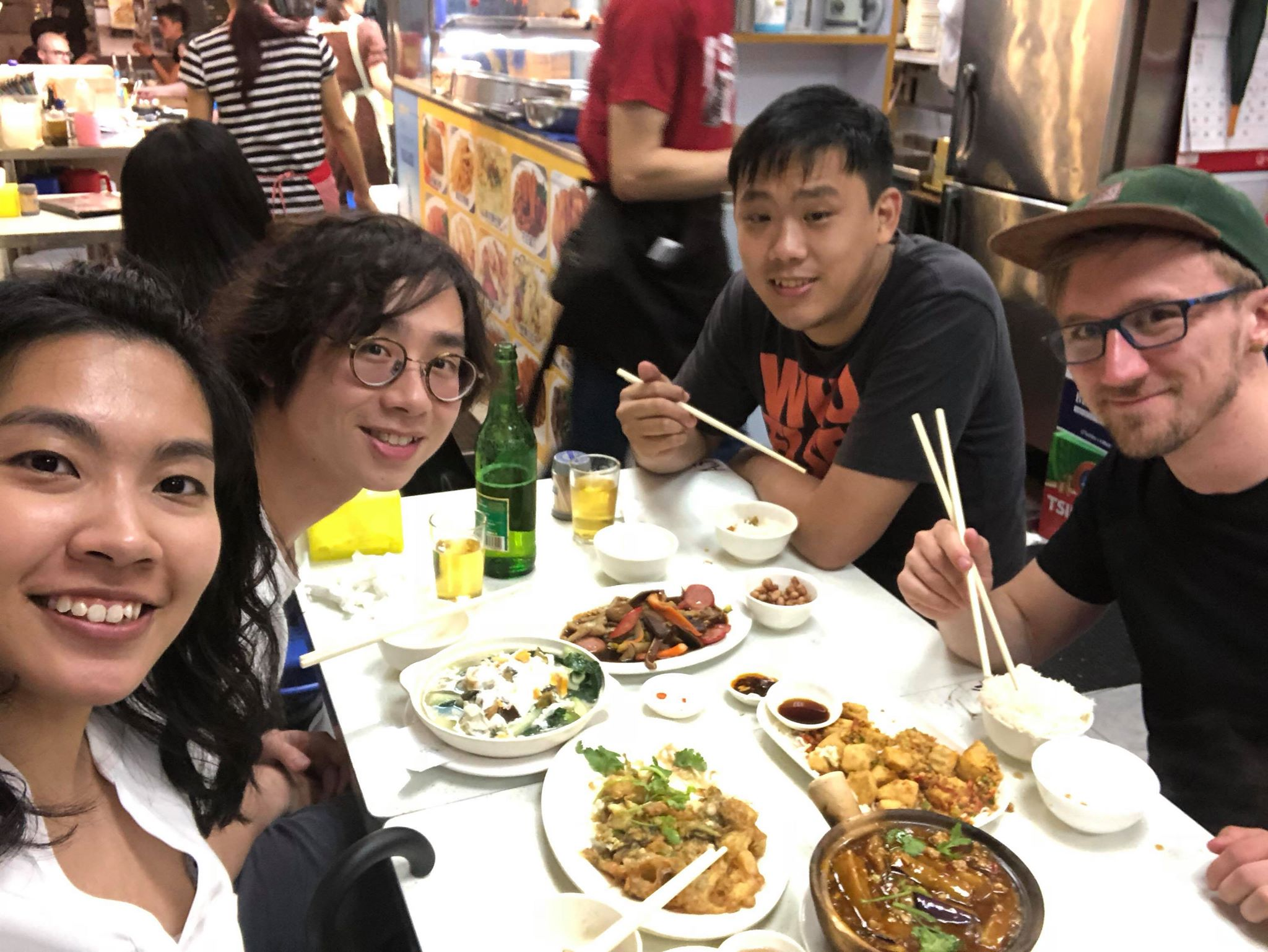 Dinner with locals in Hong Kong